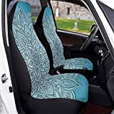 Feeling-Right Autositzbezüge Mandala Lotus Lace Oriental Zen Vordersitzbezüge Satteldecke Sitze...