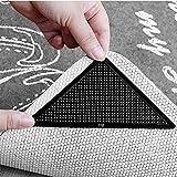 Diawell 4er-Set Teppich Anti Rutsch Unterlage Antirutschmatte Slip Pads wiederverwendbar