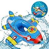 Ucradle Pool Spielzeug Baby Schwimmring Flugzeug Aufblasbares Kinderboot Baby Schwimmsitz...