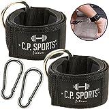 C.P. Sports Hand- und Fußschlaufe Komfort 1 Paar / 2 Stück inkl. Karabinerhaken für Kabel und...