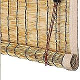 Retro Schilf Vorhang Natural Reed Vorhang Atmungsaktiv Lichtfilter Sichtschutz Rollos Handgewebt Wand Hauptdekorationen für Fenster und Türen