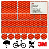 Mezanin Reflektoren-Aufkleber - Reflektor-Set für z. B. Fahrrad, Helm, Skateboard, Auto, Motorrad,...