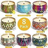 McNory Aroma Kerzen,Duftkerzen Set,8pcs SojaWachs Kerze Geschenk Set,Aromatherapie-Kerzen,Duftkerze...