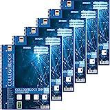 Stylex 43888-P6 - 6x Collegeblock Spirale, liniert DIN A4, 80 Blatt, 60 g/m²