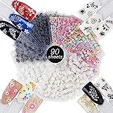 JNCH 90 Blatt Nagelsticker Aufklber Fingernägel 3D Design Selbstklebend Tattoo Sticker Nail Art...
