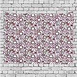 GULTMEE Wandteppich, großes Set von Aquarell-Elementen, Kräuter und Blätter, Pastellfarben,...