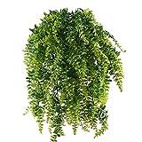 MIHOUNION Farn Künstlich Kunstpflanzen Hängend Hängepflanzen Künstliche Grünpflanze Kunststoff...
