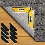 Wiederverwendung Teppichgreifer Antirutsch and Antirutschmatte, doppelseitiger Anti-Curling-Eckseiten-Teppichgreifer, 8-8 Stück strapazierfähige Teppichbänder für Hartholzböden und Teppiche.