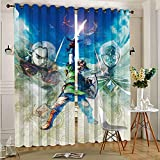 Legend Zelda Skyward Sword Room Darkening Wide Curtains Cute Curtain 2 Panel Window Treatment Set 75cmx166cm x 2 pcs