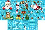 Wandefol Weihnachten Aufkleber Fenster, Fensterdeko Weihnachten Fensterbilder Weihnachten Dekoration Schneeflocken Weihnachtsmann Wandaufkleber PVC Weihnachtssticker