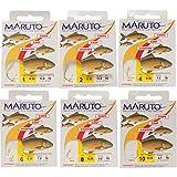 MARUTO Karpfenhaken gebunden goldfarben 70cm, Haken für Karpfen, Angelhaken zum Karpfenangeln,...