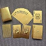 Kaemma Wasserdichtes Design goldene Spielkarten langlebig verwendung goldfolie Poker Spielkarten...