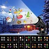 Albrillo LED Projektionslampe - Weihnachten Projektor mit 16 Motiven, LED Lichteffekt Lampe...