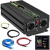 1500W KFZ Reiner Sinus Spannungswandler - Auto Wechselrichter 12v auf 230v Umwandler - Inverter...