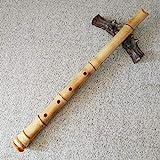 Japanische Bambusflöte Shakuhachi in D von hoher Qualität, inkl. Tasche und Anleitung