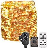30M 300 LED Lichterkette Außen,OxyLED Lichterkette Draht aus Kupferdraht,8 Modi IP65 Wasserdicht...