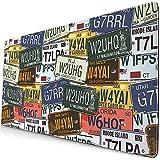 Gaming Große Mauspads USA Retro Auto Nummernschilder Vintage Mauspad Benutzerdefinierte Rechteck...