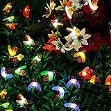 Solar Honig Biene Fairy String Lights, 6,5m 30 D Solargarten String Lichter Outdoor Biene Fairy Lights für Garten Terrasse Blume Bäume Rasen Landschaft Weihnachtsdekor BJY969 (Color : Multicolor)