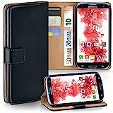 Samsung Galaxy S3 Hülle Schwarz mit Kartenfach [OneFlow Wallet Cover] Handytasche Flip-Case...