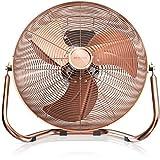 Brandson - Windmaschine Retro Stil 120 Watt - Ventilator in Kupfer - Standventilator 50cm -...