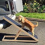 Hund Rampe höhenverstellbar rutschfeste Sicherheitsrampe für die Reise aus Holz Hund Katze...