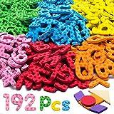 LYKJ-karber Magnetische Buchstaben und Zahlen, Magnetbuchstaben ABC Alphabet Set mit Mustern und Symbolen Lernspielzeug Geschenk Set für Kinder ab 3 Jahre Schaumstoff 9 Farbe und 192 Stück