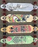 BUSDUGA Longboard Skateboard aus Ahornholz, HQ-Kugellager, wählen Sie Ihr Design (USA Rider)