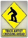RETRO SIGNS BY J E MATRIX Snow Board Straßenschild aus Metall Fun Geschenk Extreme Snow Sport...