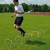Superspieler24 5 Koordinationshürden im Set, 30 cm hoch, gelb, für Fußballtraining