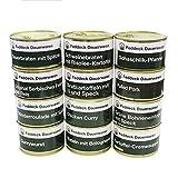 12 x 400 g Feriggerichte Mix in Dosen