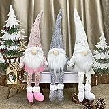 Bseical Weihnachtswichtel Häkeln Plüsch Stehend Weihnachts Stoff Zwerge Wichtel Weihnachtsbaumschmuck Fenster Tür Set Kamin Weihnachtsdeko
