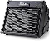 Coolmusic Tragbarer 40-W-Akustikgitarrenverstärker mit Mikrofoneingang, Unterstützung von Bluetooth, Leistung des Akkus bis zu 8 Stunden