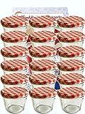 Vitrea 40 Sturzgläser 230 ml Marmeladengläser Einmachgläser Einweckgläser to 82 Rot Karriert