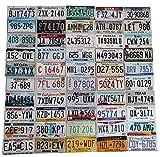 USA_Auswahl_von_Fahrzeugschildern 50 Kennzeichen Set // Original USA Nummernschilder Alle Staaten Set Von Alabama bis Wyoming // Auto - Schilder, US License Plates