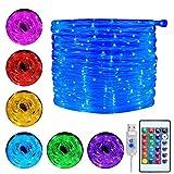 Ollny Lichterschlauch 10M 100 LED USB Lichterkette 16 Farben 4 Modi mit Fernbedienung & Timer für...