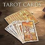 Ploufer Tarot Mucha Tarotkarten, 78 Blatt Tarot Mucha Tarot Karten Und Ratgeber Set Brettspiel...