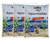 Dehner Aqua Aquarienkies, Körnung 1 - 2 mm, 3 x 5 kg (15 kg), weiß
