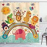 ambesonne Home Decor Kollektion, Badezimmer Dusche Vorhang-Sets mit Haken, Polyester, Mehrfarbig 2,...