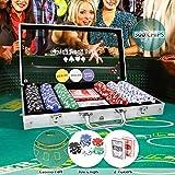 CCLIFE 300 500 PCS Pokerset Profi Pokerspiel inkl. Pokerkoffer Pokerdecks Dealer Button Poker Set...