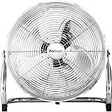 Pro Breeze™ 50 cm Bodenventilator aus Chrom | Ventilator mit 3 Geschwindigkeitsstufen und...