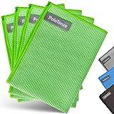 PoloTenze Premium Mikrofaser Trockentuch Waffeltuch   40x60 cm   für Auto, Glas, Küche, Geschirr, Bad uvm.   Grün, 4er Pack