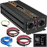 2500W KFZ Reiner Sinus Spannungswandler - Auto Wechselrichter 12V auf 230V Umwandler - Inverter...