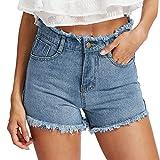 cinnamou Jeans Hellblau,Kurze Hosen Herren Jeans,Frauen Blue Denim Jeans Solide Casual Loch Sommer...