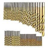 DingGreat 99 tlg Spiralbohrer Set, 1.5mm-10mm HSS Bohrer Set Titanium Metallbohrer Spiralbohrer...