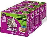 Whiskas 7 + Katzenfutter, Hochwertiges Nassfutter für gesundes Fell, Feuchtfutter in verschiedenen...