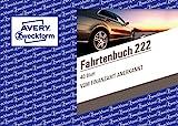 AVERY Zweckform 222 Fahrtenbuch für PKW (vom Finanzamt anerkannt, A6 quer, auf 80 Seiten für...